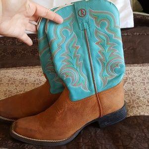 Tony Lama Women's Boots, Size 10, Turquoise!